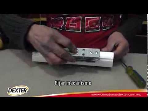 Instalaci n cerradura dexter para perfil de aluminio youtube for Celosias de aluminio para jardin