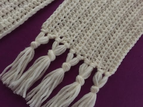 Crochet Scarf For Beginners Tutorial | Fast , Easy And Elegant