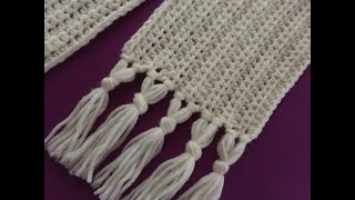 Crochet Scarf For Beginners Tutorial   Fast , Easy And Elegant