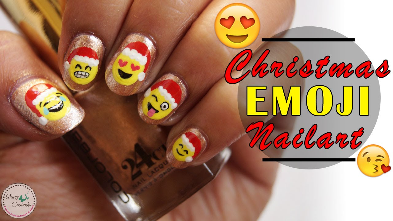 Emoji Nail Art | CUTE CHRISTMAS Emoji Nail Art Tutorial 😊😂😍 - Emoji Nail Art CUTE CHRISTMAS Emoji Nail Art Tutorial 😊😂😍 - YouTube