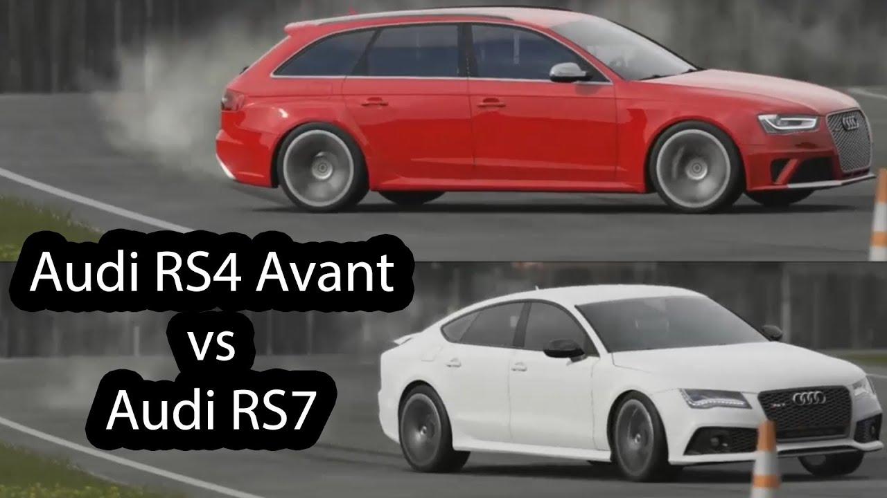 Audi RS4 Avant vs Audi RS7 Top Gear - YouTube