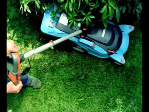 gardena 32e powermax mowing lawn doovi. Black Bedroom Furniture Sets. Home Design Ideas