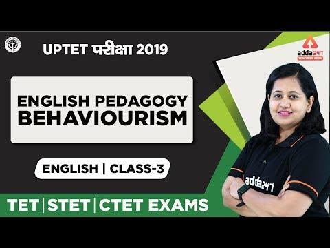UPTET परीक्षा 2019 | English | English Pedagogy- Behaviourism | Class 3 | TET,STET,CTET