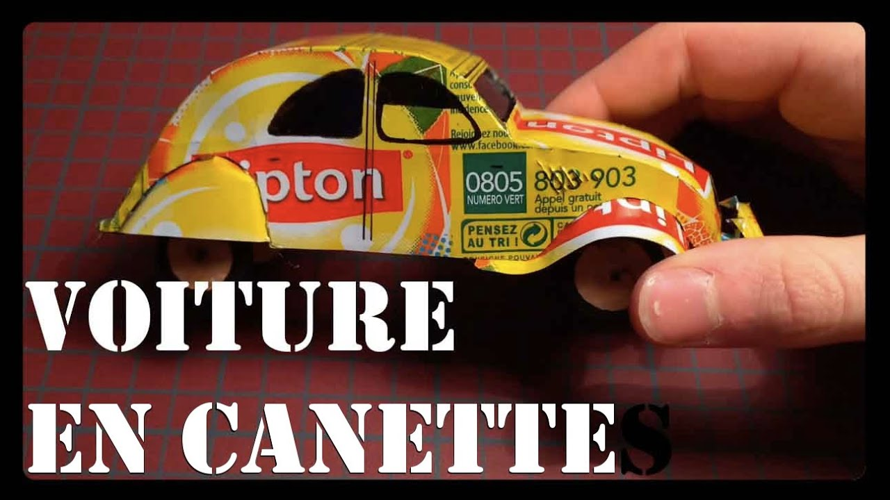 fabriquer une voiture en canette 2cv can homemade youtube. Black Bedroom Furniture Sets. Home Design Ideas
