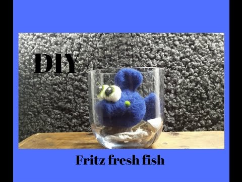 Nadelfilzen mit Fritz fresh fish , DIY, felting tutorial for beginners