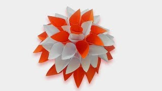 Genius flower Craft Idea out of Paper    DIY Room Decor    paper craft Making at Home