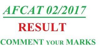 AFCAT 02/2017 # RESULT