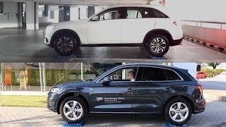 Mercedes GLC 4MATIC vs Audi Q5 QUATTRO - 4x4 test on rollers