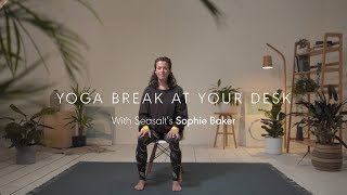 Seasalt Cornwall: Yoga at your Desk, a Gentle Seated Sequence.