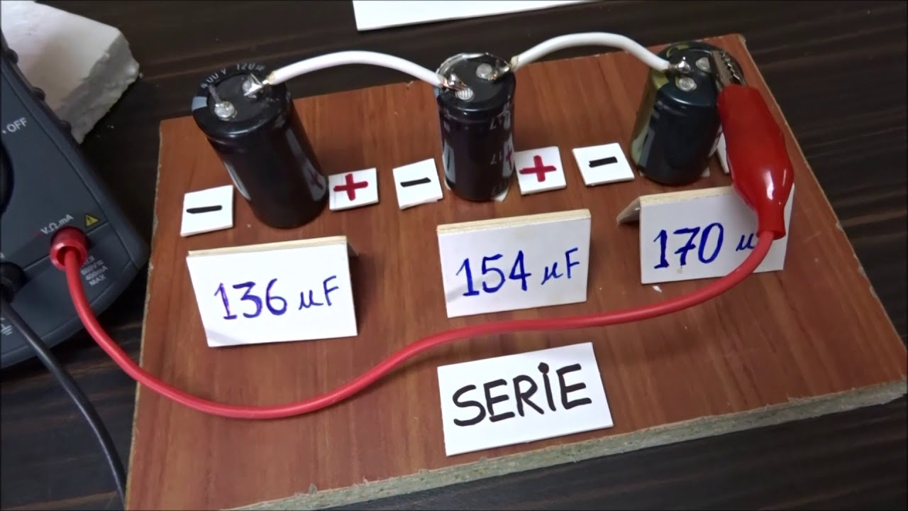 Capacitores En Serie Y Paralelo La Capacitancia Para