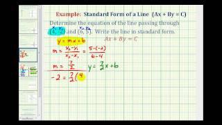 السابق 2: إيجاد معادلة الخط في شكل قياسي بالنظر إلى نقطتين