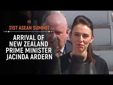 ASEAN 2017: Arrival of New Zealand Prime Minister Jacinda Ardern