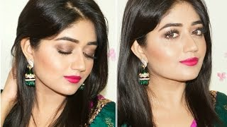 Indian Festive Makeup : Fuchsia Lips Tutorial | Corallista