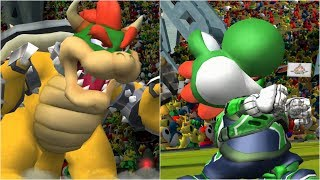 Mario Strikers Charged - Bowser vs Yoshi - Wii Gameplay (4K60fps)