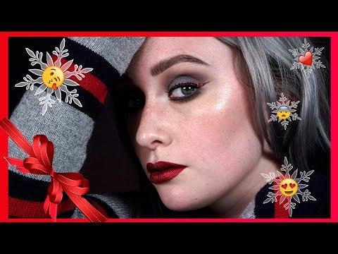 Holiday Makeup Tutorial w Red Eyeliner | JkissaMakeup