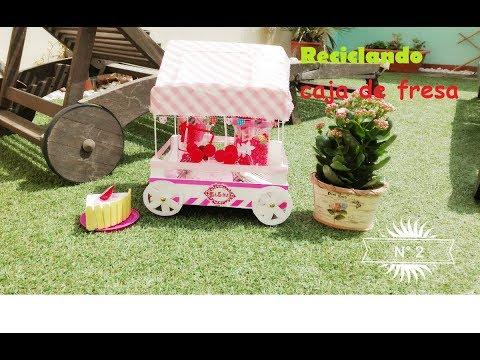 Carrito de chuches n 2 con caja de fresas youtube - Ideas para decorar mesas de chuches ...