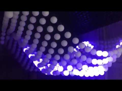 soft effect ----kinetic light sculpture-----hotel lobby--3m lifing high