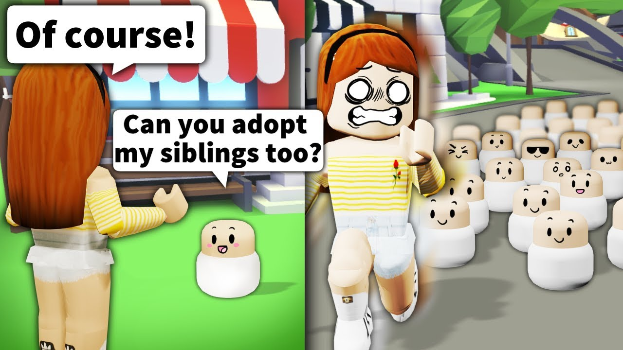 Asking Roblox Mom Can You Adopt My Siblings Then Bringing 100 People - the people in my videos roblox