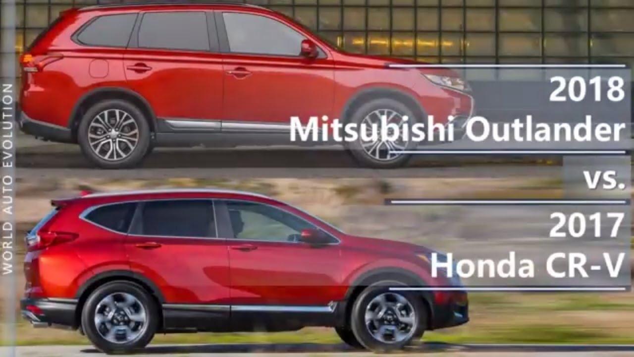 2018 mitsubishi outlander vs 2017 honda cr-v (technical comparison