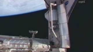 STS-122 Crew Enters Space Station