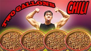 2 GALLONS OF CHILI CHALLENGE!! HUGE FOOD CHALLENGE!!
