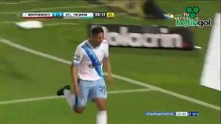 Gol de Aliendro. Independiente-Atlético Tucumán