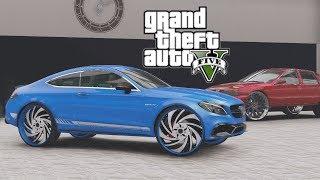 GTA 5 Real Hood Life #32 Outrageous Nipsey Blue C63 on 26s & New Showroom! (GTA 5 Hood Life Mods)