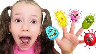 Wash your hands story | Microbes and germs on my fingers