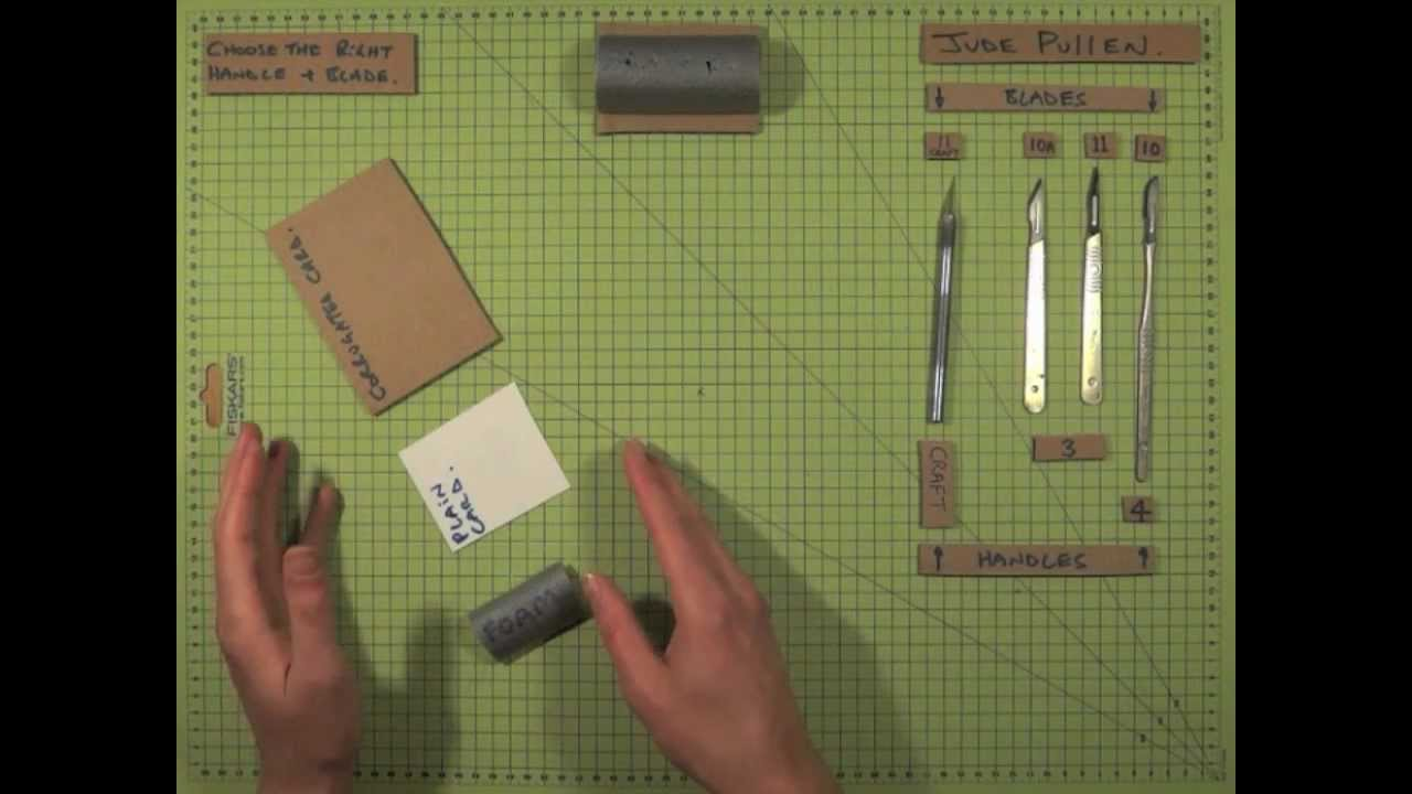 Card Modelling Basics (pt 1) - Choose the right handle and blade - with  Jude Pullen