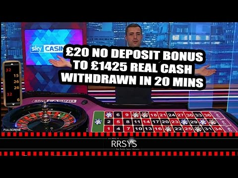 ▀ £20 Bonus to £1425 REAL Cash in 20 mins - Sky Casino Live Roulette RRSYS