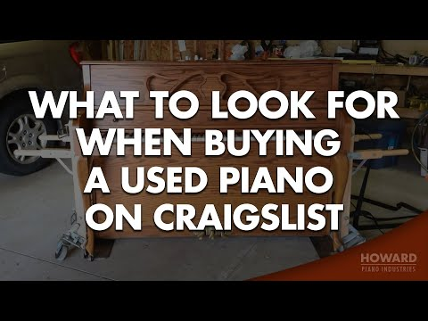 Buying A Used Piano on Craigslist - What to Look For