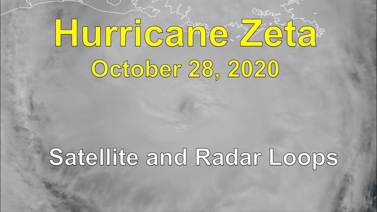 Hurricane Zeta Satellite and Radar Loops