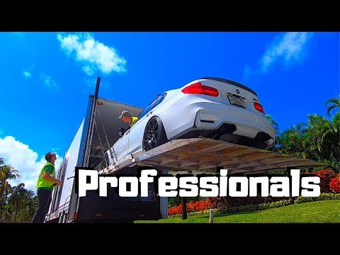 Auto Transporting EXPENSIVE SUPERCARS With Volvo Semi Enclosed Car Hauler/Trailer | GTR | BENTLEY |