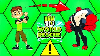 BEN 10: WORLD RESCUE - FOUR ARMS IS VERY ANGRY (OMNITRIX) - EPIC FIGHT - CARTOON NETWORK GAMES