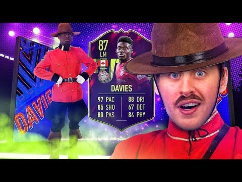 OMG CAPTAIN CANADA! 87 FUTURE STAR ALPHONSO DAVIES! FIFA 19 Ultimate Team