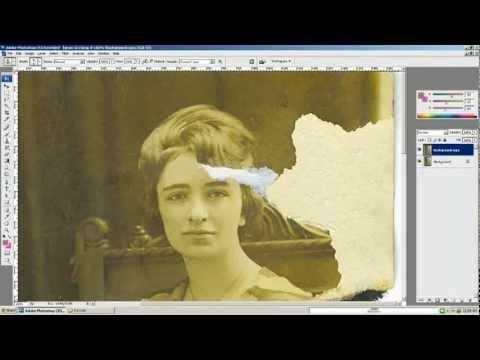 Восстановление старой фотографии.Photoshop.