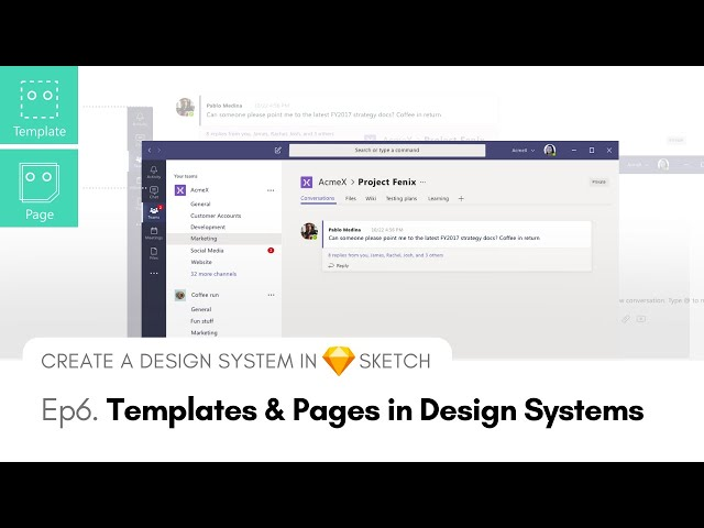 Templates and Pages in Design Systems - Create a Design System in Sketch, Ep6
