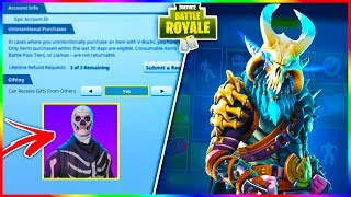 "Fortnite GIFTING System Update // *NEW* ""DYNAMO"" & ""MASKED FURY"" Skin Out Now!"
