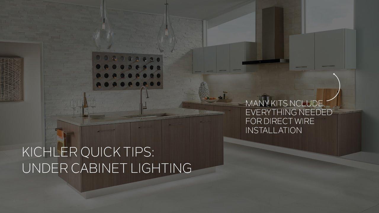 kichler under cabinet light installation quick tip