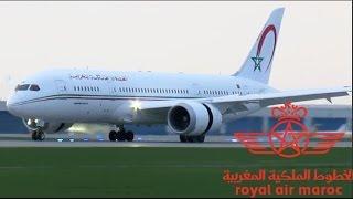 Royal Air Maroc 787-8 Dreamliner (B788) landing & taxiing at YUL on 24L