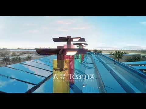 Architectural 3D animation: master planning - Dubai Rose city