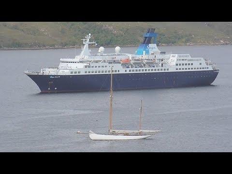Saga Pearl II and Loch Seaforth at Ullapool