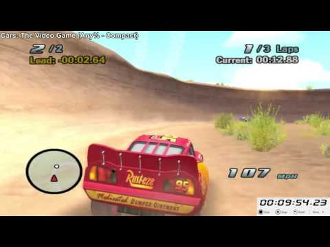 Cars: The Video Game (Any% - Compact - Glitchless) in 1:18:24 [WR]