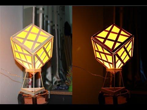 ทำให้โคมไฟไม้ไอติมโดยใช้