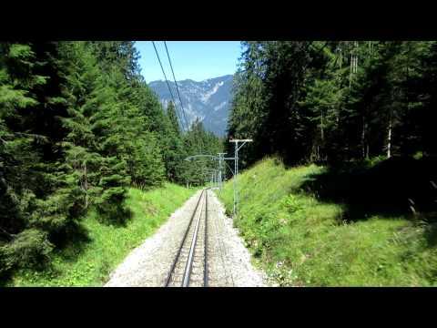 Bavarian Zugspitze rack railway: the uphill journey