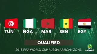 QUALIFICATION OF AFRICAN COUNTRIES FOR 2018 FIFA WORLD CUP IN RUSSIA