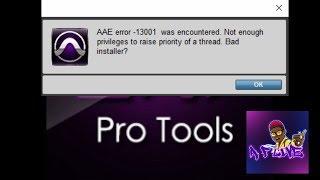 How to Fix AAE -13001 Error | Protools #Aaronfantazii.tv