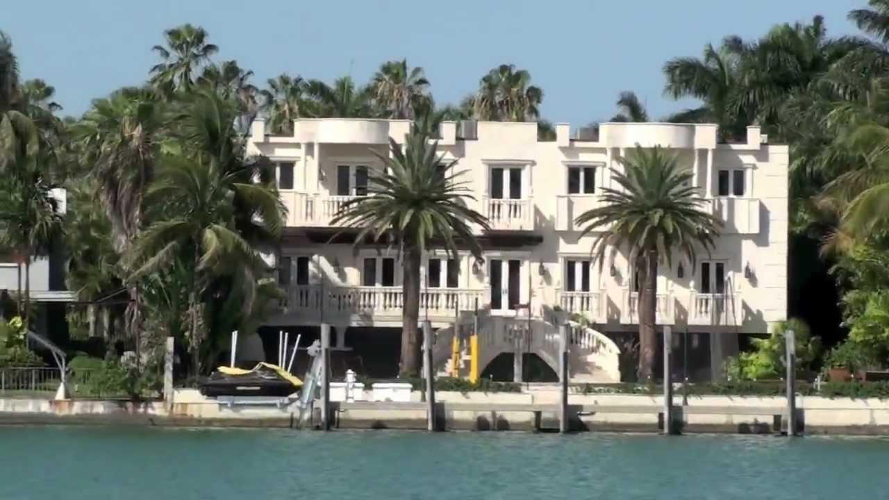 Star Island (Miami Beach) Enrique Iglesias, Shaquille O' Neal, Sylvester  Stallone uvm CRIBS - YouTube
