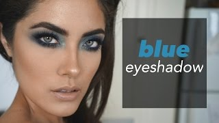 How to wear a POP of color or just blue eyeshadow.... | Melissa Alatorre