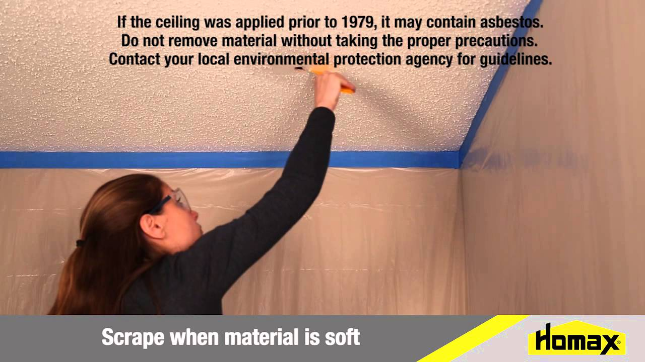 100 how to remove popcorn ceiling without water why remove
